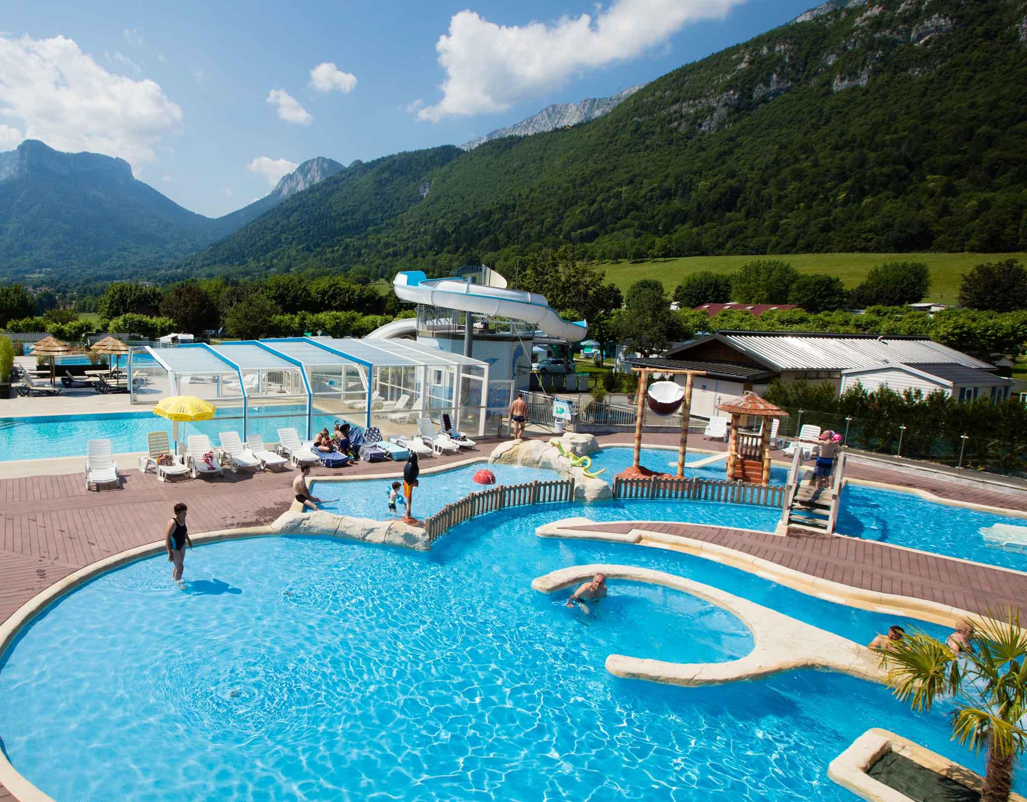 Camping L'idéal - Savoie Mont Blanc (Savoie Et Haute Savoie ... encequiconcerne Camping Lac Léman Avec Piscine