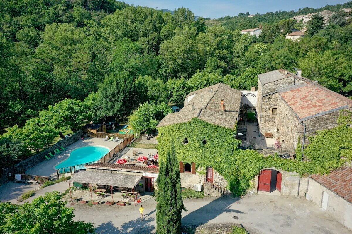 Camping Privas En Ardèche | Le Moulin D'onclairecamping Ardeche pour Camping Auvergne Piscine