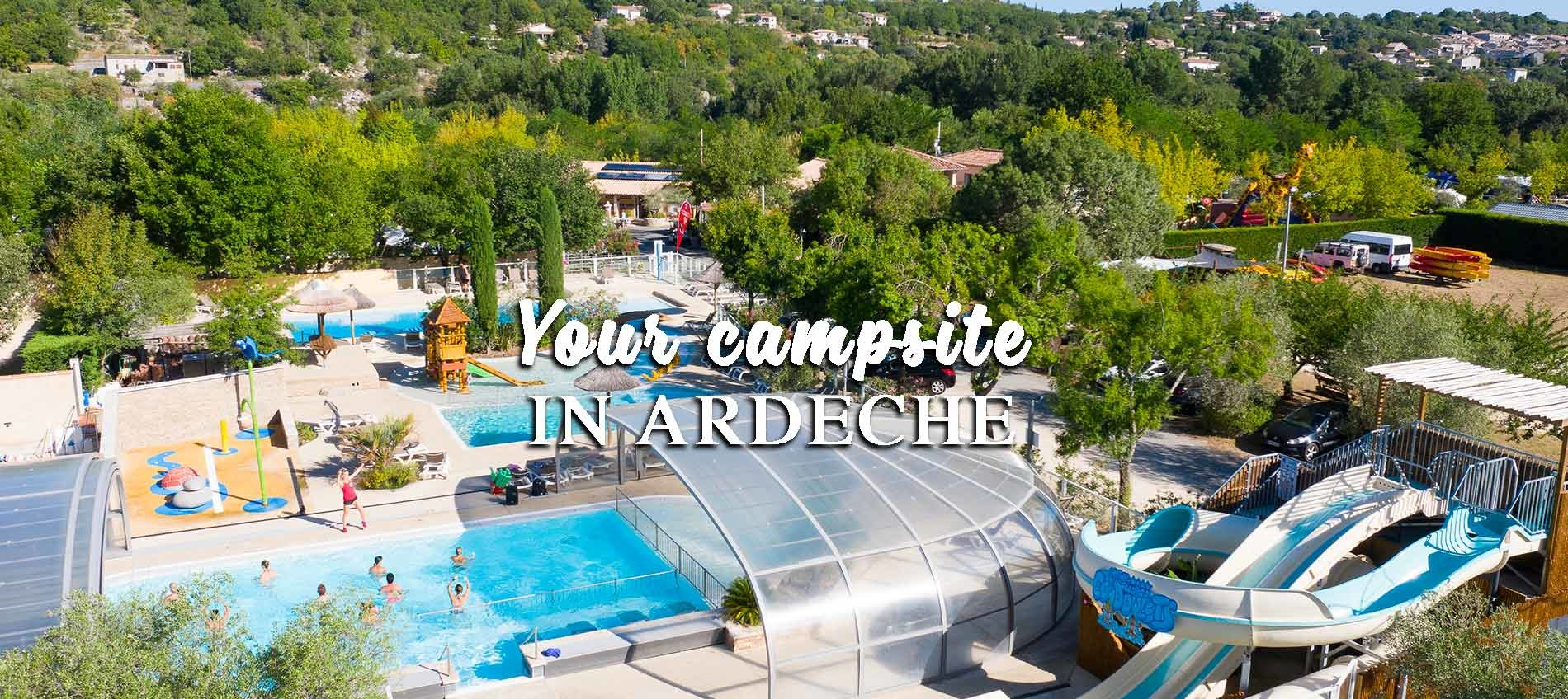 Camping Sud Ardèche 4 Stars, Indoor And Heated Pool, Mobile ... pour Camping En Ardèche Avec Piscine