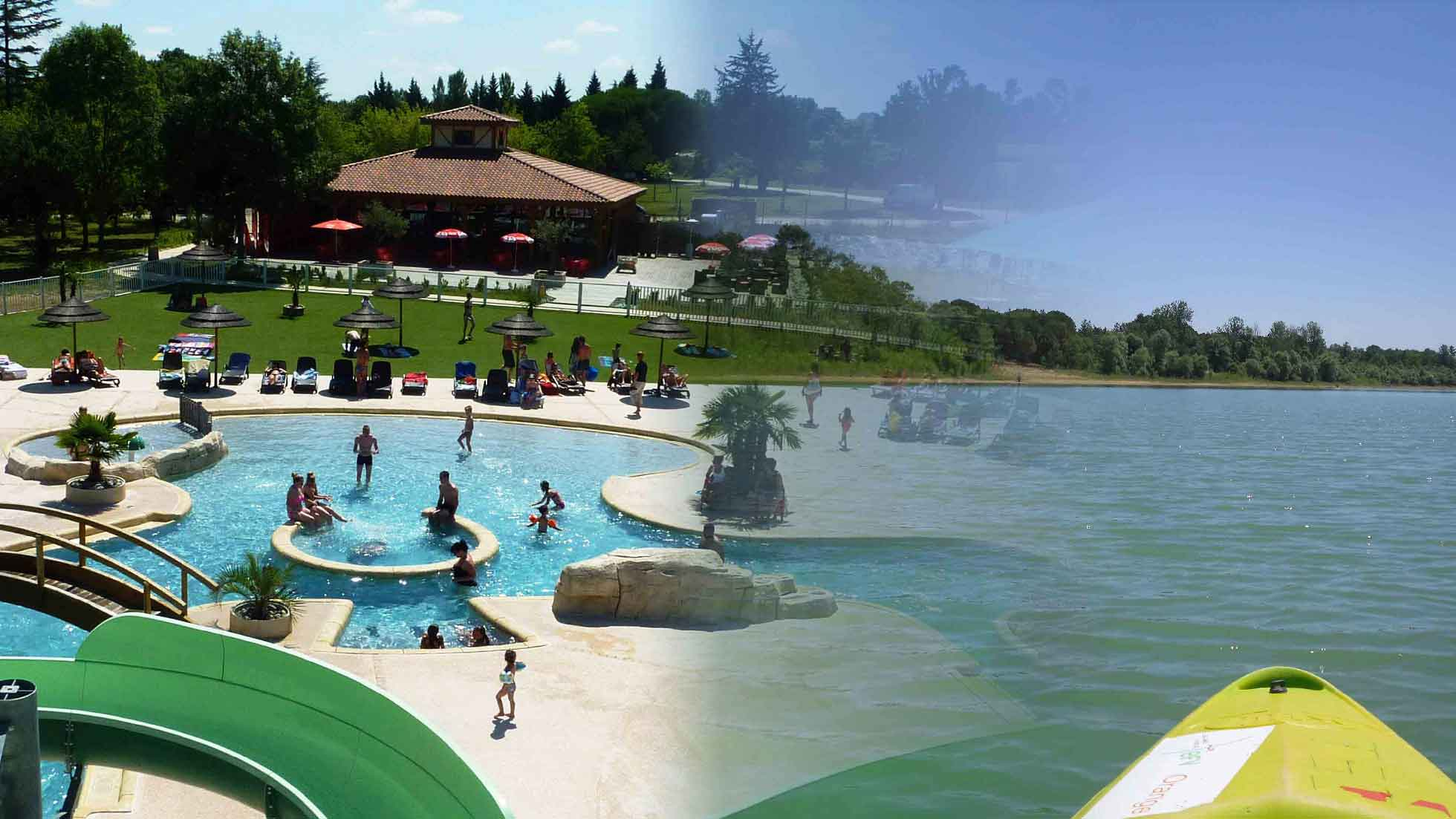 Campsite France On A Lake, South Of France, Water Park ... serapportantà Camping Var Avec Piscine