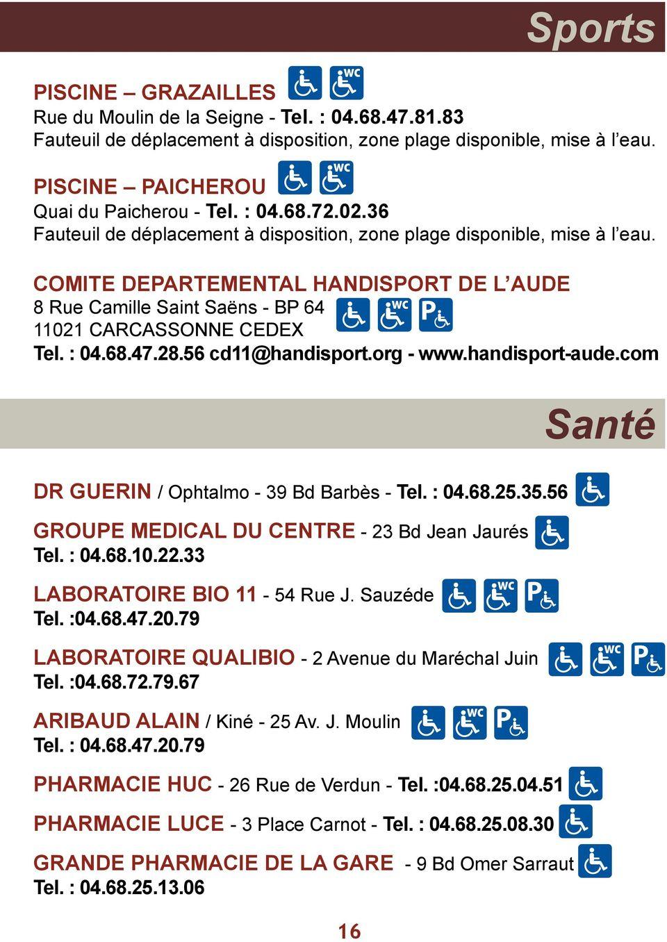 Carcassonne. - Patrimoine Mondial - Guide D Accessibilité ... tout Piscine Grazailles