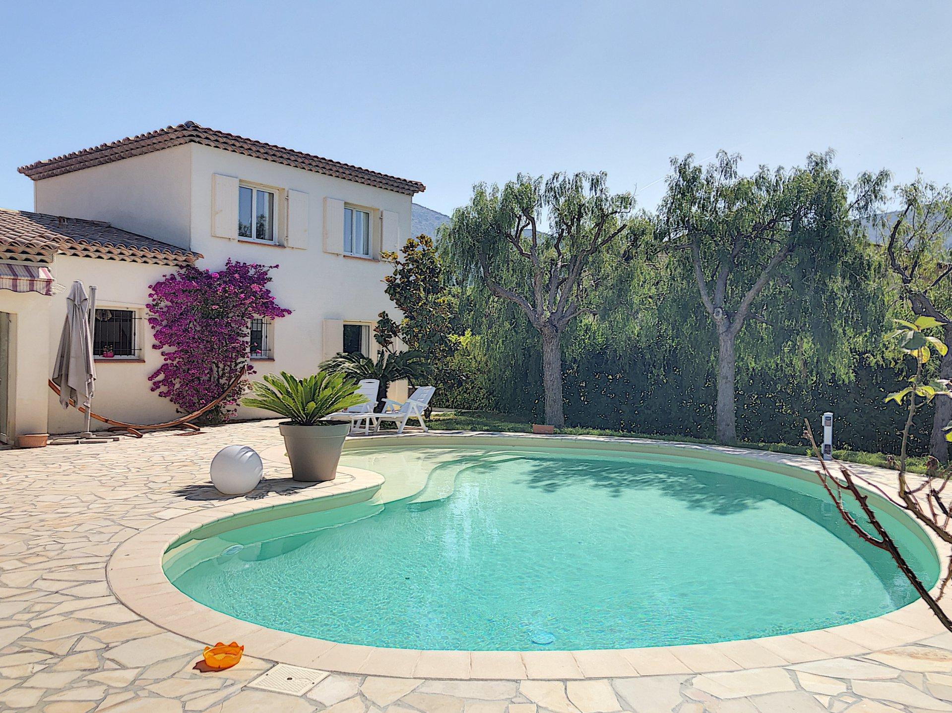 Carros Les Plans (06510) - Villa Individuelle - Piscine destiné Piscine Carros