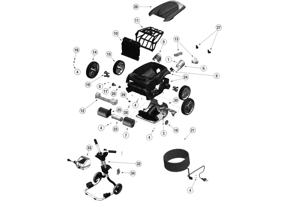 Carte Clavier Vortex 4 tout Robot Piscine Zodiac Vortex 4