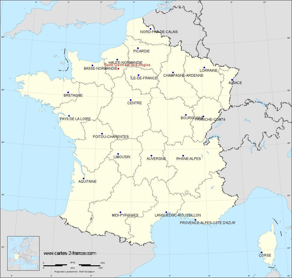 Carte De Saint-Germain-Des-Angles : Situation Géographique ... avec Piscine Evreux Jean Bouin