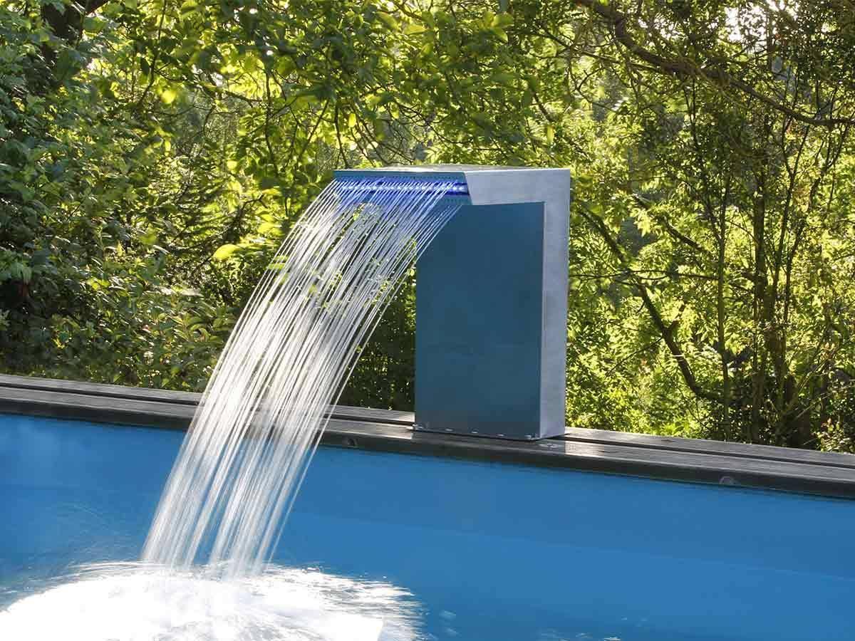 Cascade De Piscine Straight Led En Inox - Ubbink pour Fontaine De Piscine