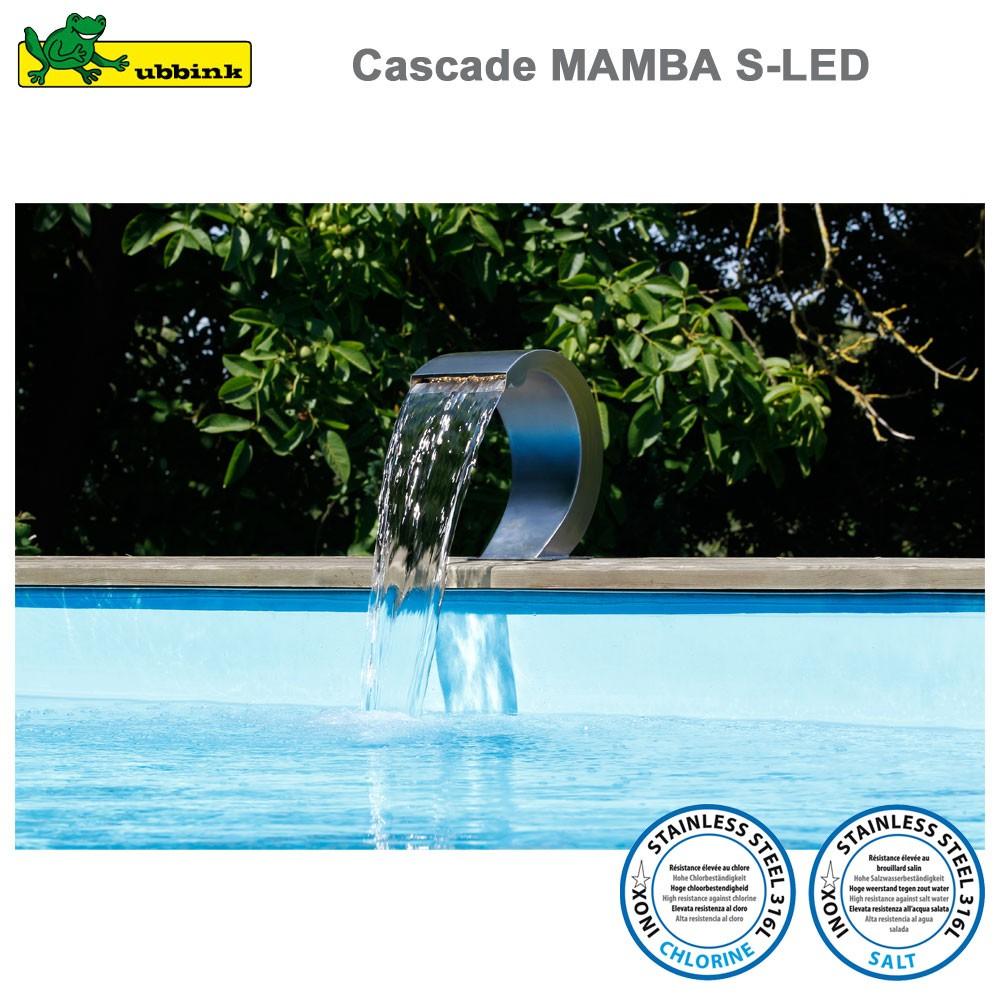 Cascade Pour Piscine Mamba S-Led Inox 316 avec Cascade Pour Piscine