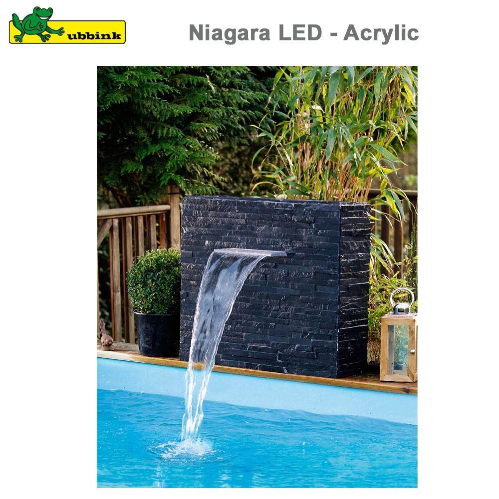 Cascade Pour Piscine Niagara 60 Led - Acrylic destiné Fontaine De Piscine