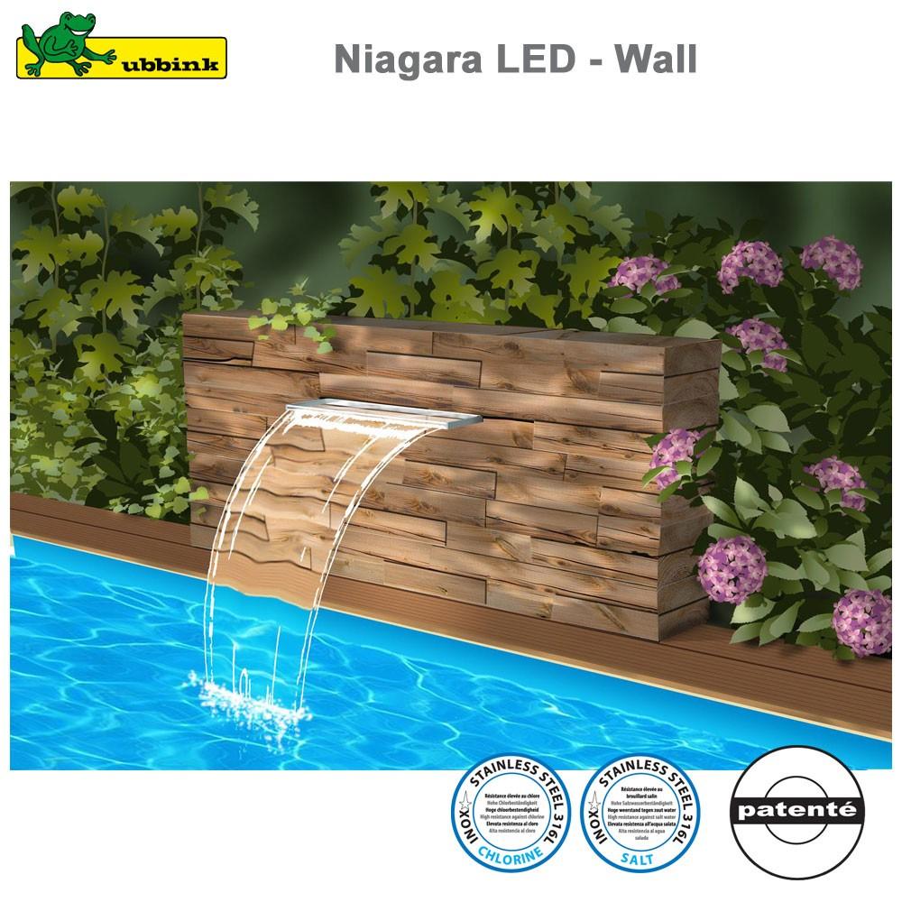 Cascade Pour Piscine Niagara 60 Led - Acrylic pour Fontaine De Piscine