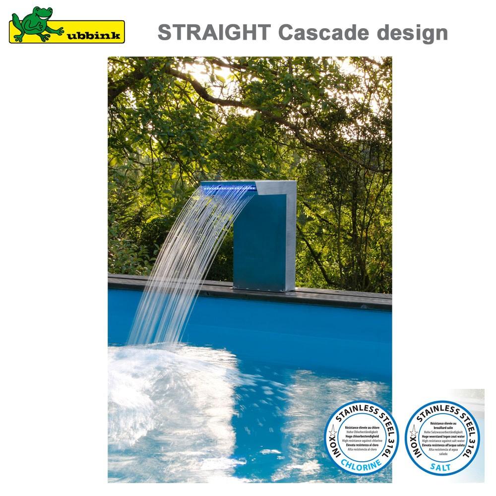 Cascade Pour Piscine Straight Led Inox 316 concernant Cascade Pour Piscine