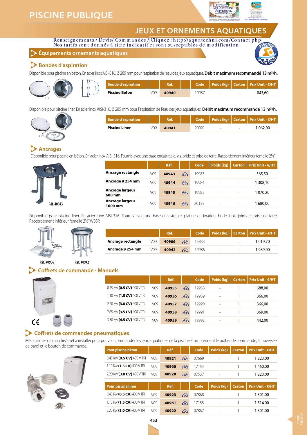 Cataloge General 2 2018 Aquatechni Universal By Sitti - Issuu concernant Piscine Encastrable