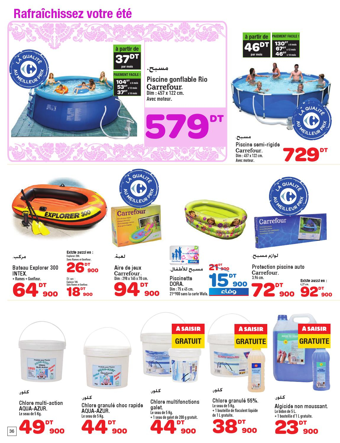 Catalogue Carrefour By Carrefour Tunisie - Issuu tout Carrefour Piscine Hors Sol