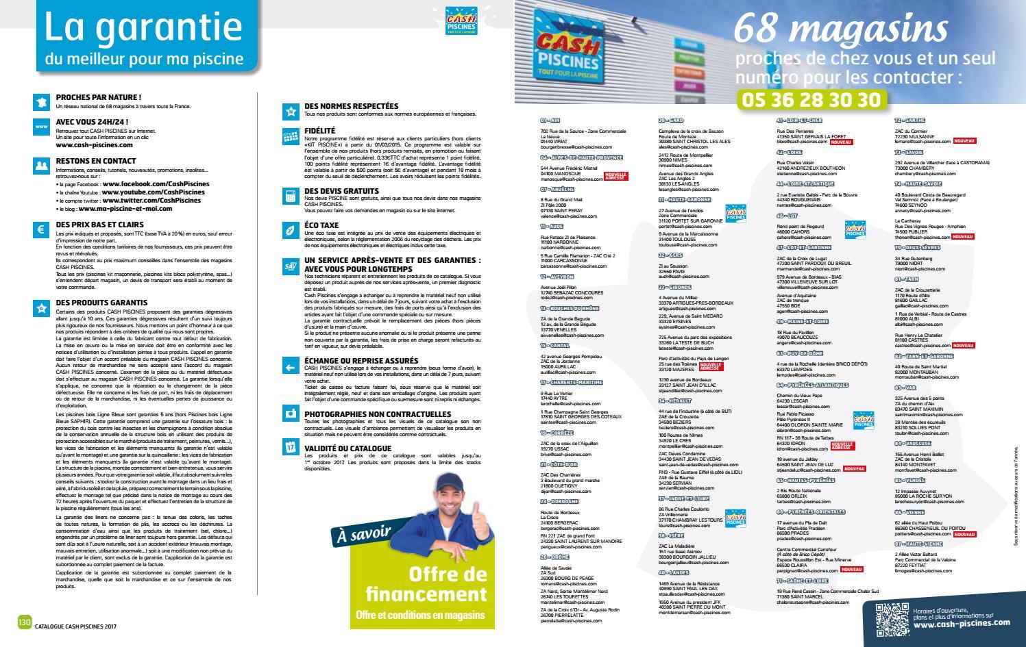 Catalogue Cash Piscine 2017 By Octave Octave - Issuu encequiconcerne Cash Piscine Montauban