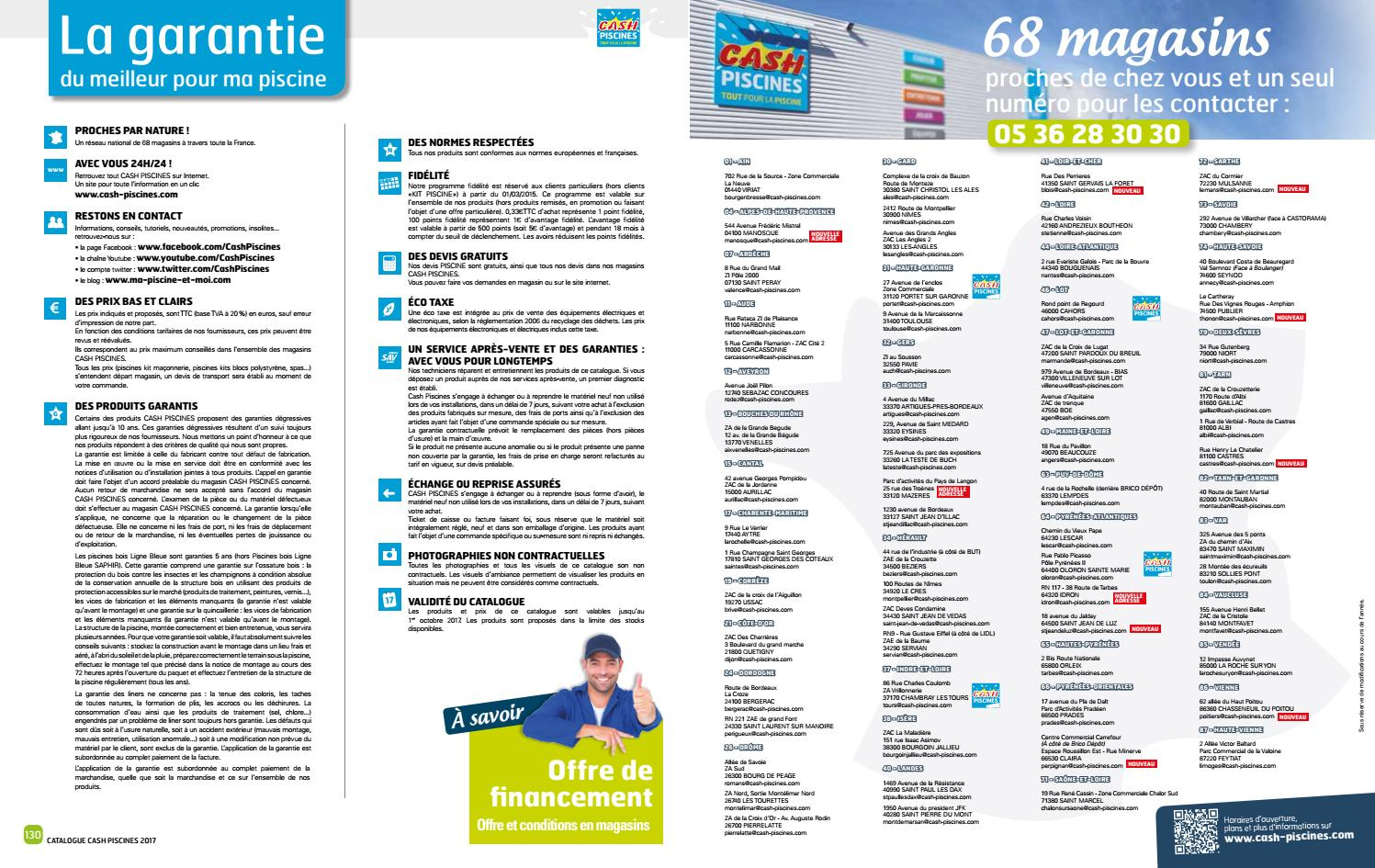 Catalogue Cash Piscine 2017 By Octave Octave - Issuu intérieur Cash Piscine Toulon