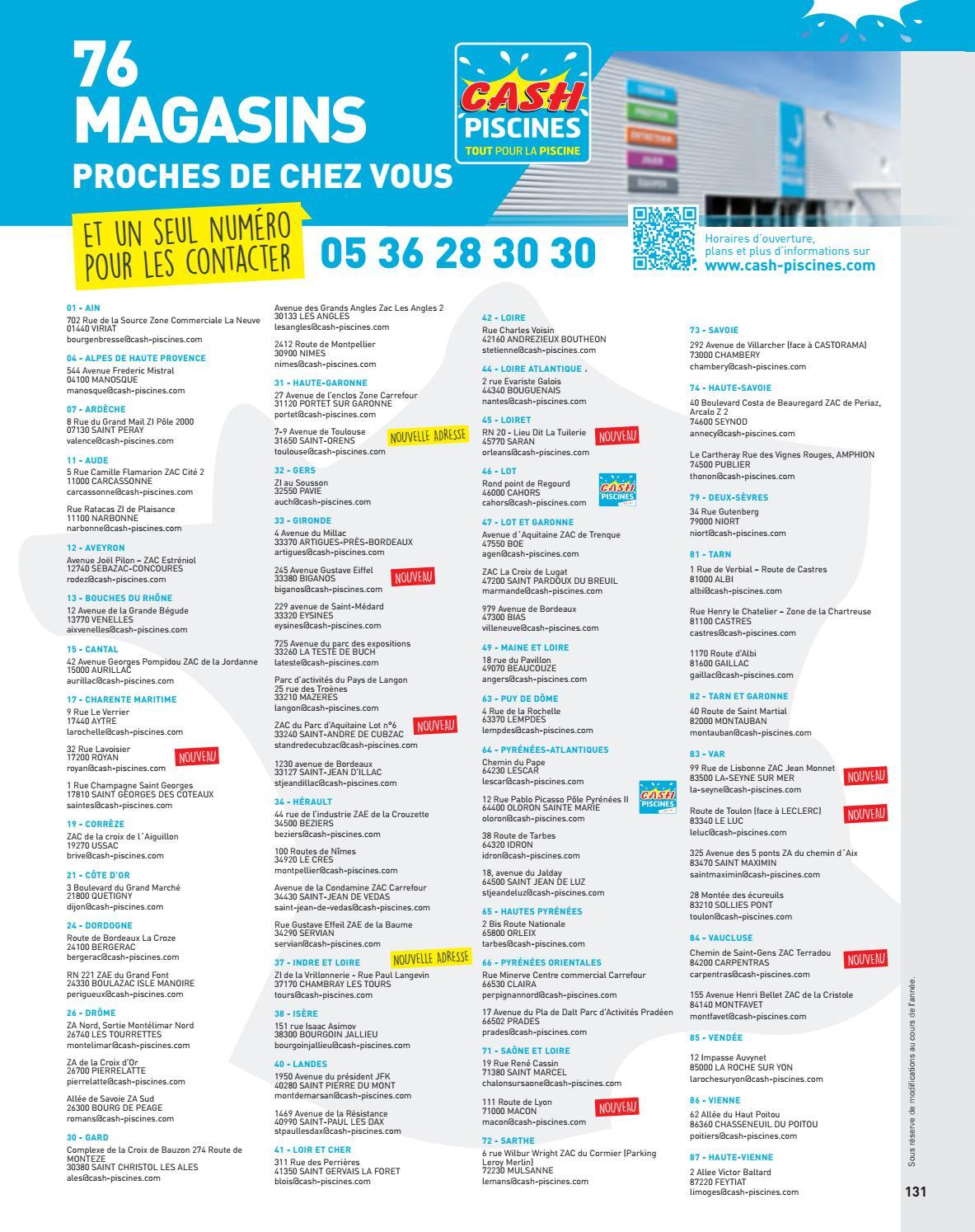 Catalogue Cash Piscine 2018 By Octave Octave - Issuu concernant Cash Piscine Sollies Pont