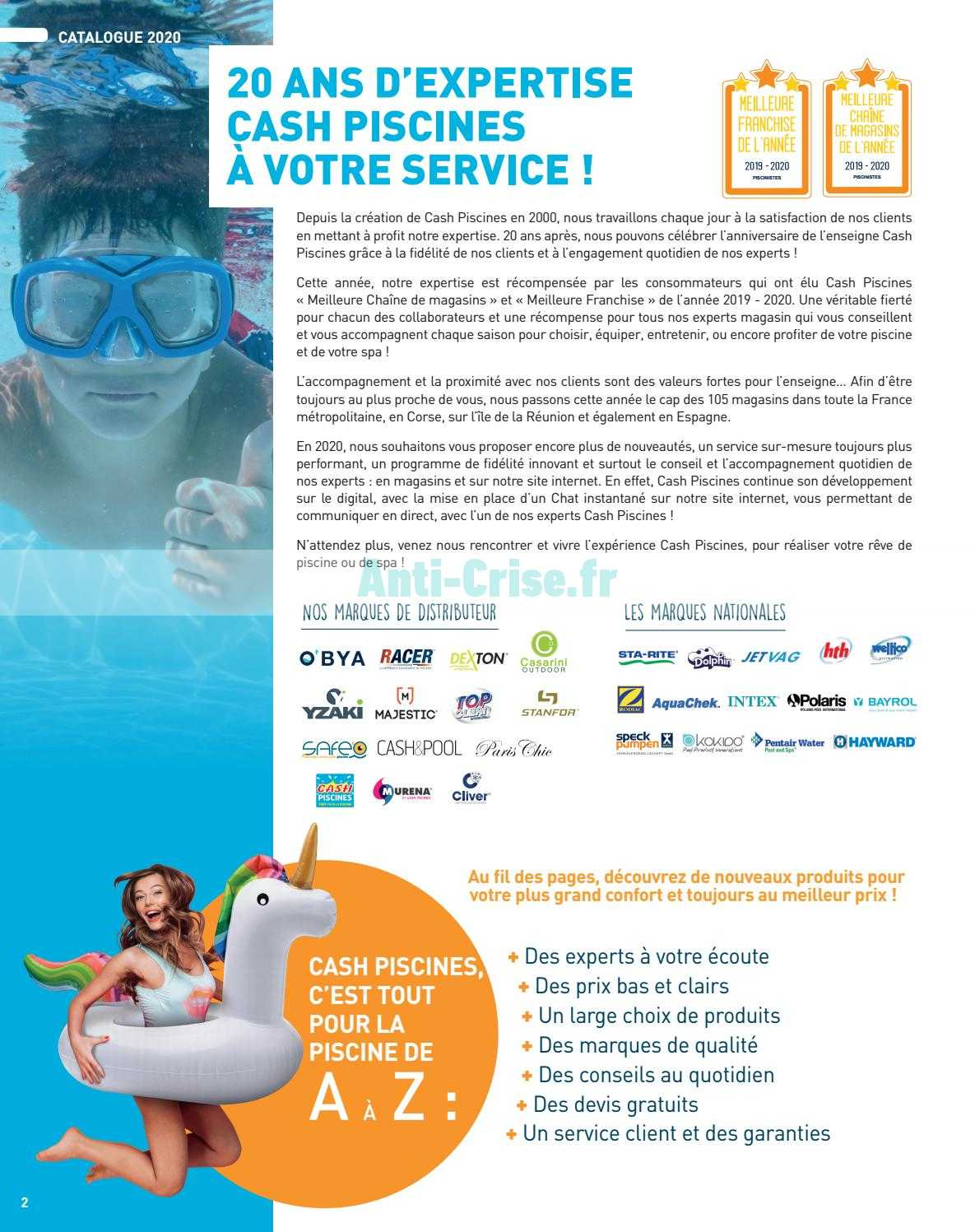 Catalogue Cash Piscines Du 01 Janvier Au 31 Décembre 2020 ... avec Cash Piscine Catalogue