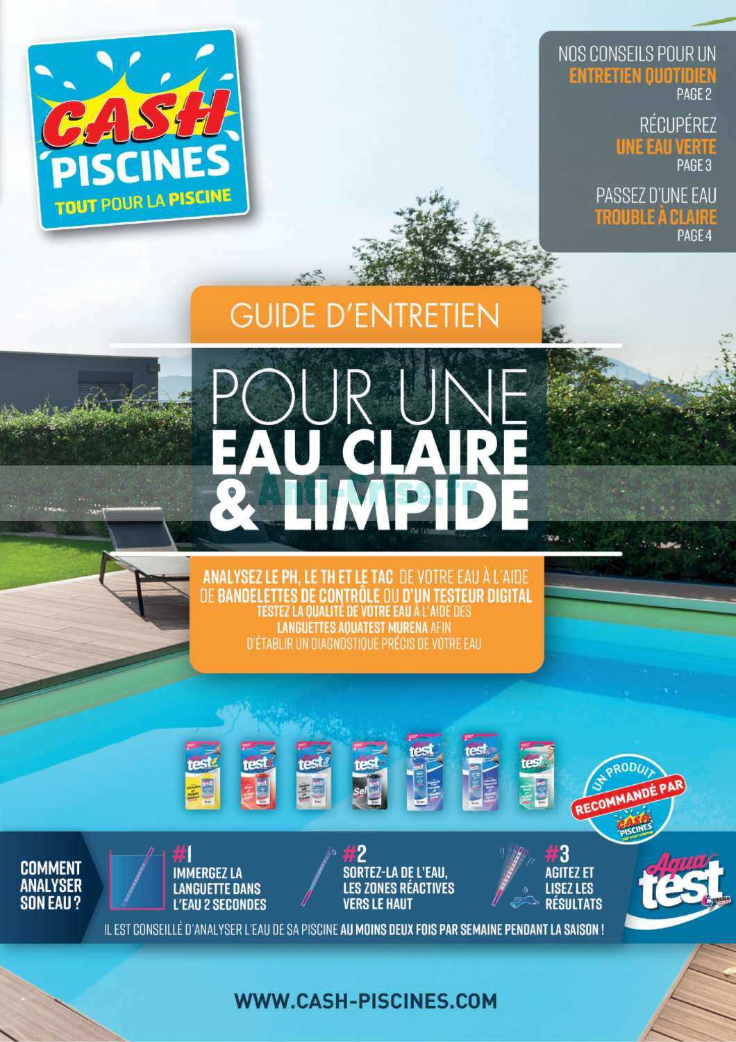 Catalogue Cash Piscines Du 14 Juillet Au 31 Décembre 2019 ... dedans Cash Piscine Catalogue