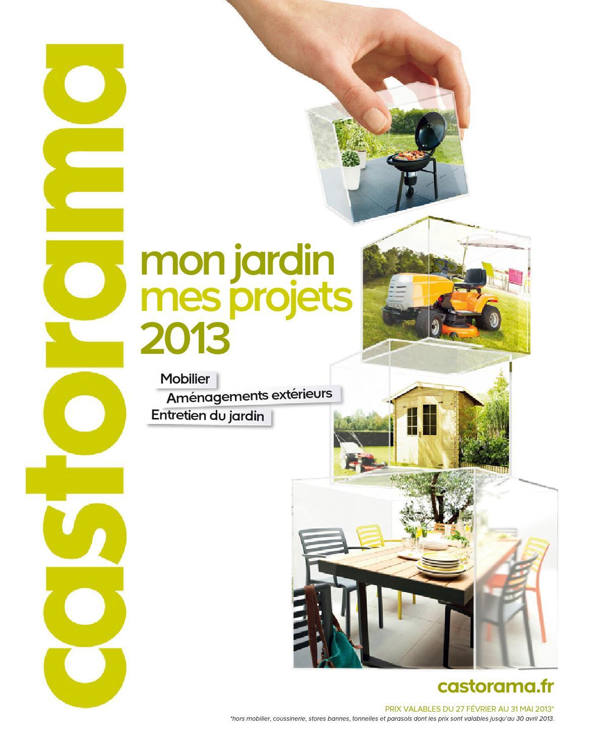 Catalogue Castorama Jardin Projets By Margot Ziegler - Issuu serapportantà Dalle Piscine Castorama