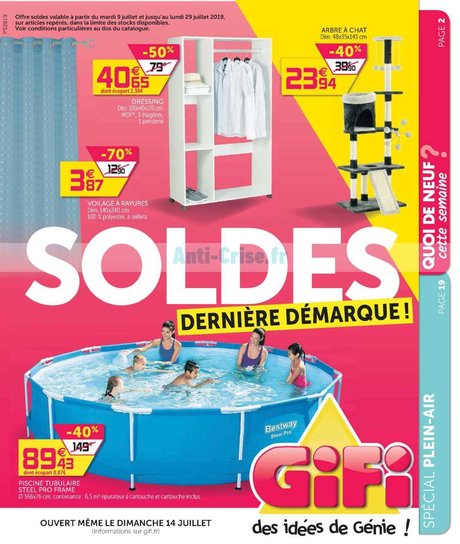 Catalogue Gifi Du 09 Au 29 Juillet 2019 - Catalogues Promos ... pour Piscine Tubulaire Pas Cher Gifi