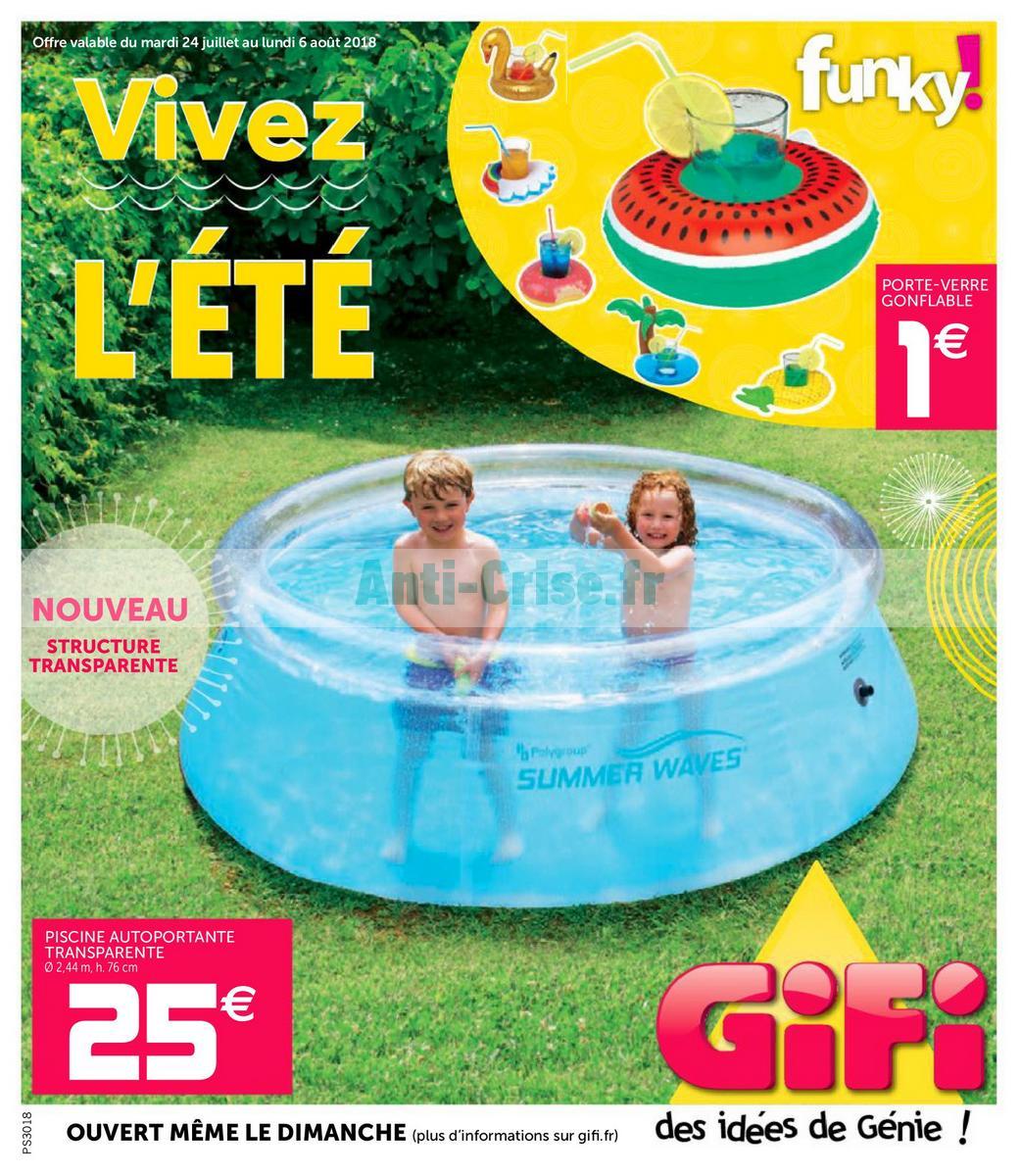 Catalogue Gifi Du 24 Juillet Au 6 Août 2018 - Catalogues ... tout Gifi Piscine Gonflable