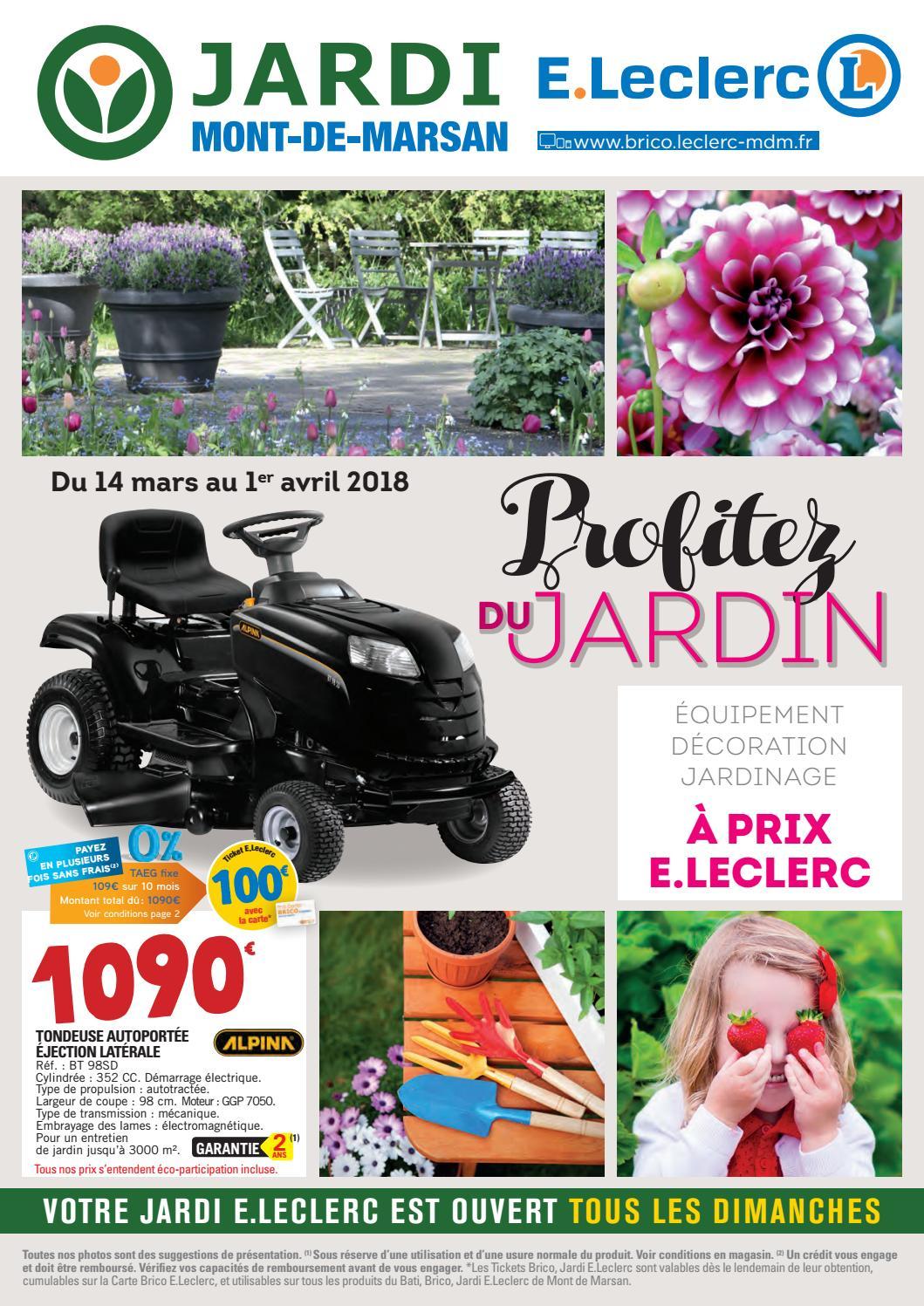 Catalogue Jardin - Jardi E.leclerc By Chou Magazine - Issuu encequiconcerne Piscine Autoportée Leclerc