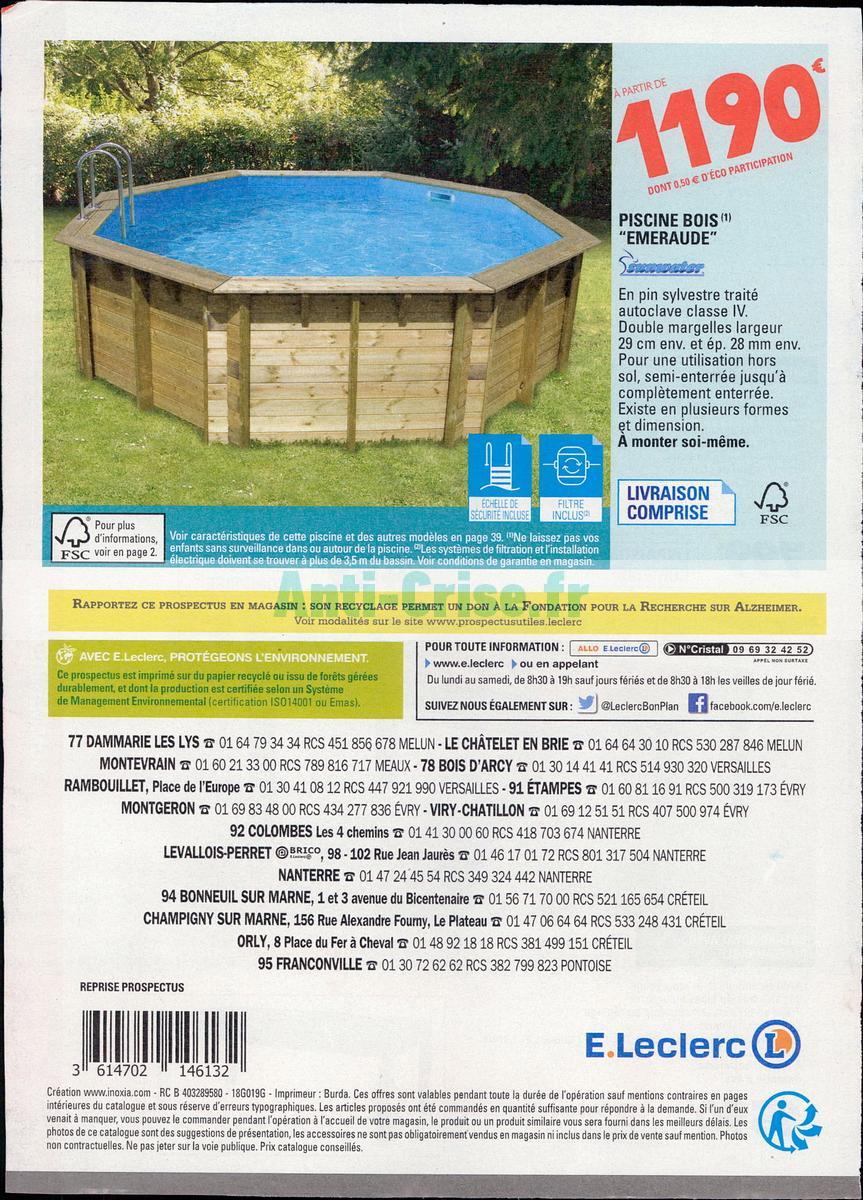 Catalogue Leclerc Du 6 Février Au 31 Décembre 2018 (Maison ... serapportantà Piscine Leclerc Hors Sol