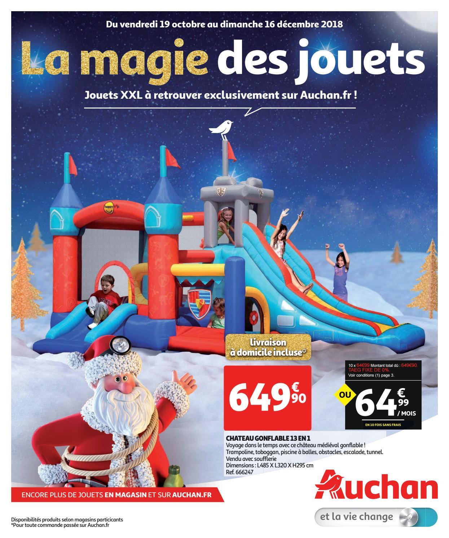Catalogue Noël 2018 Jouets Xxl - Auchan.fr By Yvernault - Issuu tout Piscine Gonflable Auchan