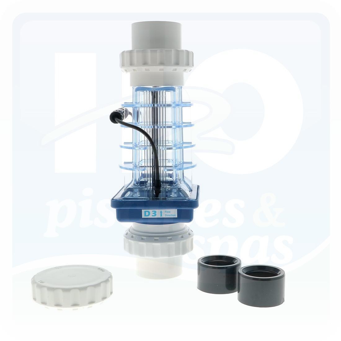 Cellule 3 Plaques D'électrolyseur Au Sel Aquablue Psc 5 Scci2 Pour Piscine  Jusqu'à 80 M3 - H2O Piscines & Spas destiné Electrolyseur Sel Piscine