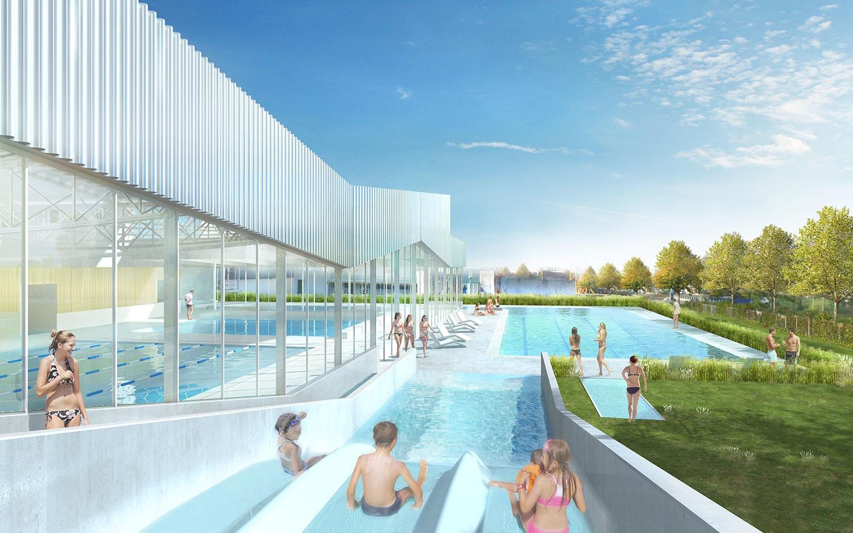 Centre Aquatique - Alt 127 . Architectes avec Piscine Combourg