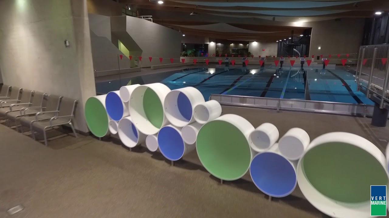 Centre Aquatique Aquasud (Differdange - Luxembourg) - Vert-Marine - Drone  At Work pour Piscine Denain