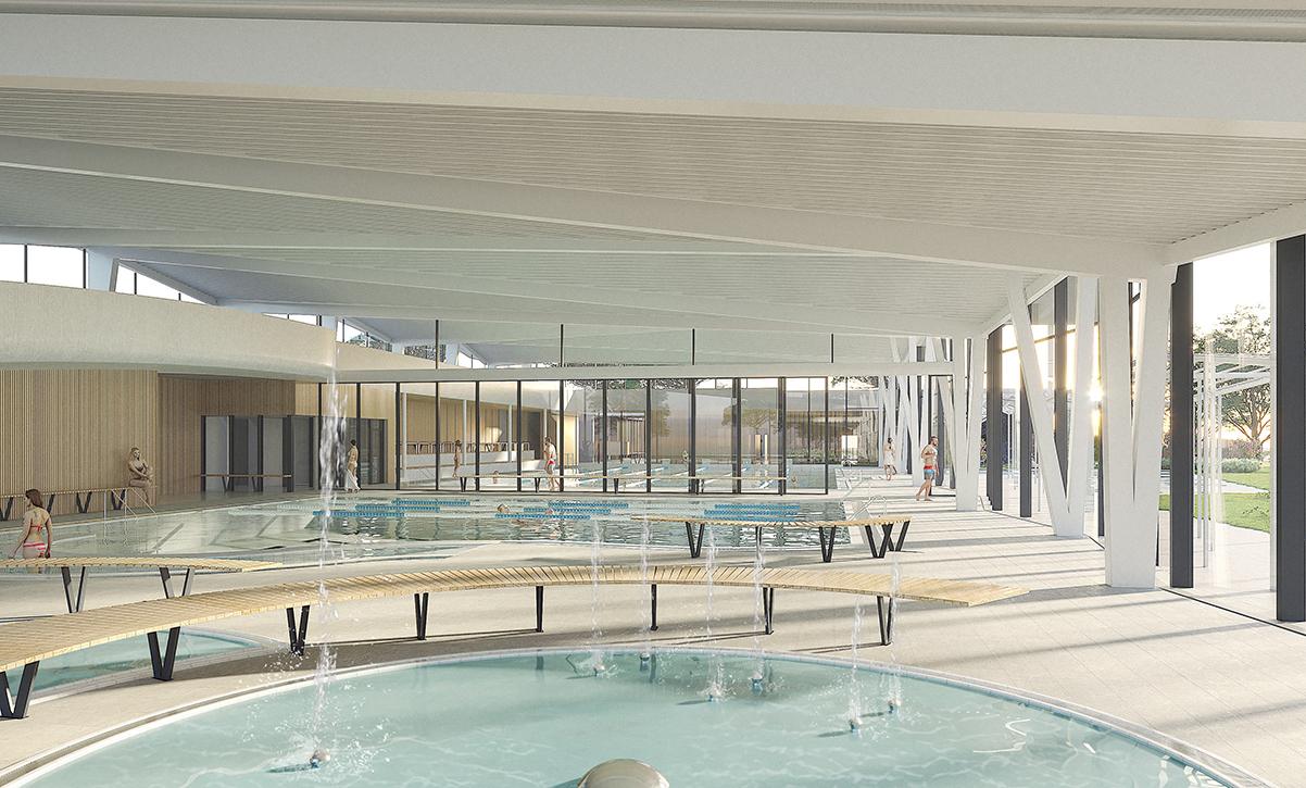 Centre Aquatique Saint-Paul-Trois-Chateaux - Agi2D intérieur Piscine Saint Paul Trois Chateaux
