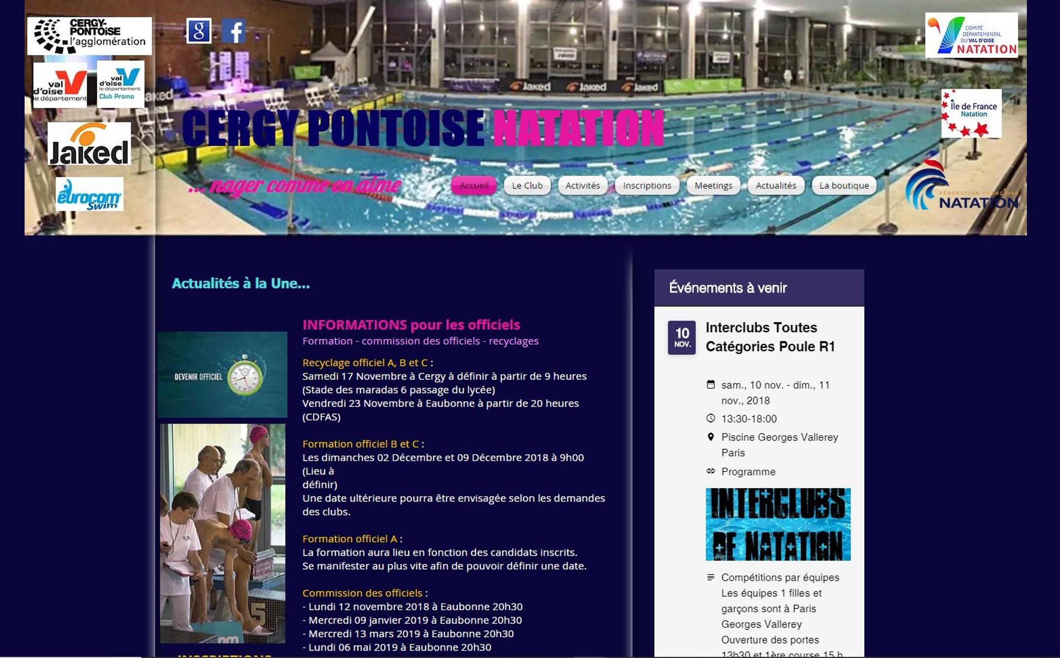 Cergy Pontoise Natation à Piscine Cergy Prefecture