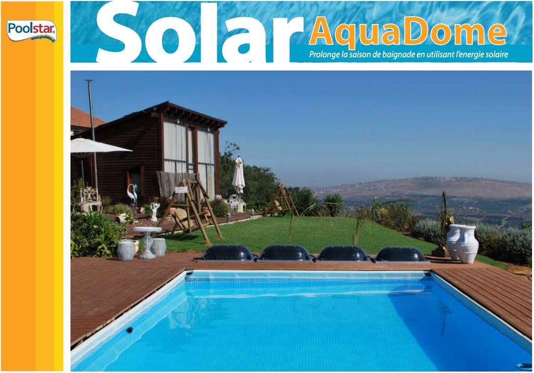 Chauffage Solaire Pour Piscine Hors-Sol Big Dome concernant Dome Piscine Hors Sol