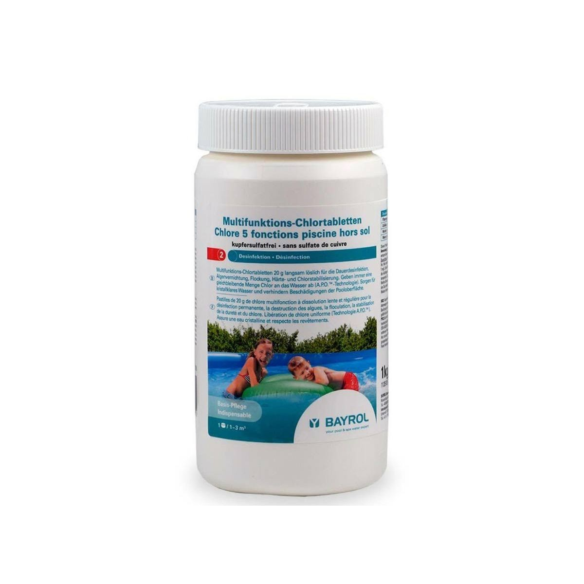Chlore 5 Actions Pour Piscine Hors-Sol 1 Kg   Products ... serapportantà Sulfate De Cuivre Pour Piscine