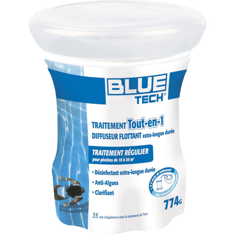 Chlore 6 Actions Piscine Blue Tech Traitement Complet ... intérieur Produit Piscine Leroy Merlin