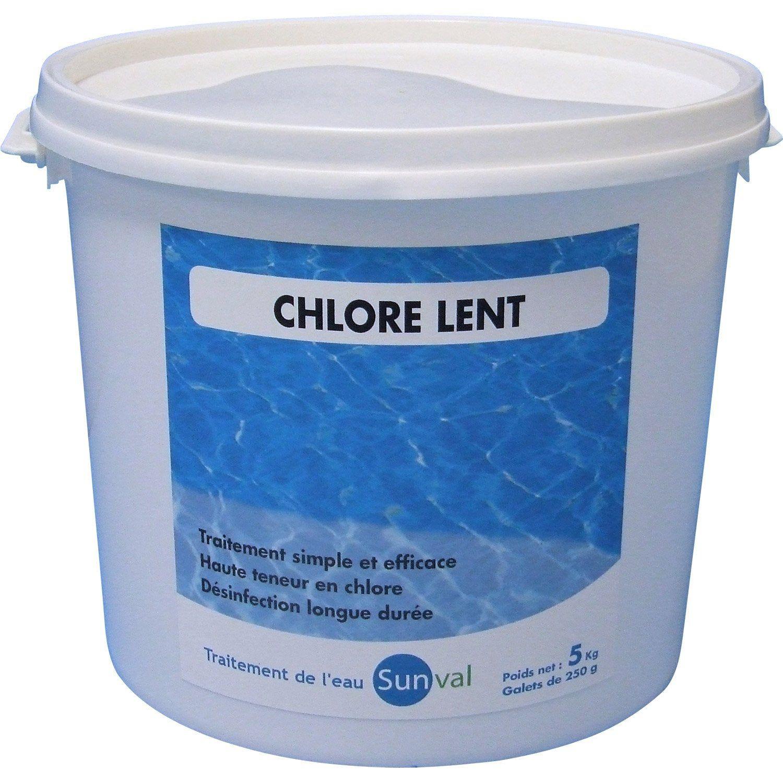 Chlore Lent Piscine, Galet 5 Kg | Eau De Piscine, Piscine ... encequiconcerne Produit Piscine Leroy Merlin