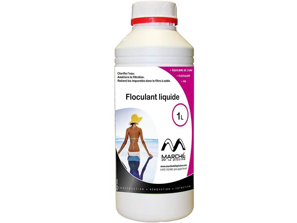 Clarifiant Floculant Liquide Marchedelapiscine Bidon 1L à Clarifiant Piscine