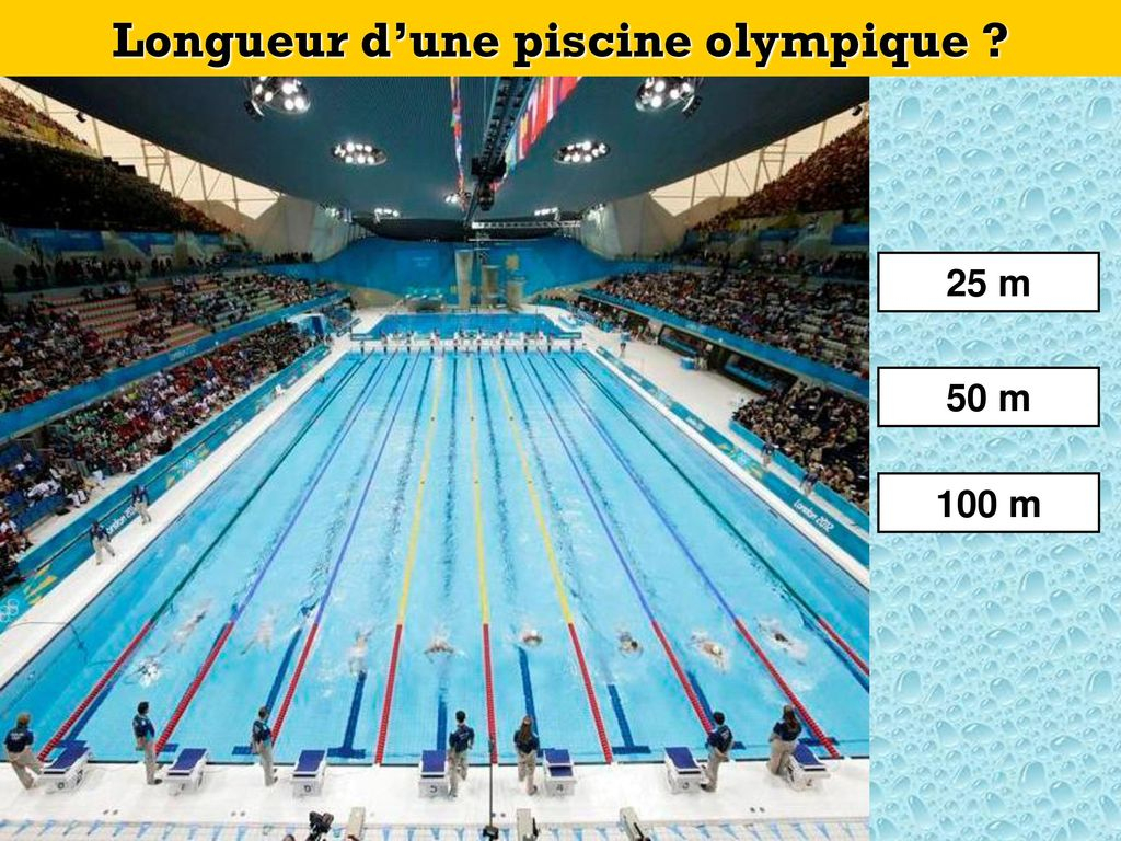 Cliquez Ici Pour Commencer - Ppt Video Online Télécharger pour Dimension Piscine Olympique
