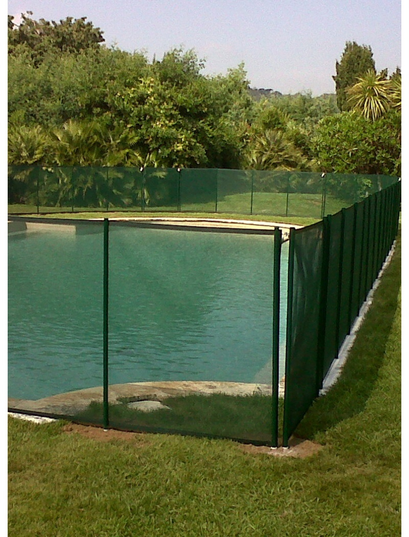 Clôture Piscine Souple Beethoven Filet Vert concernant Filet Protection Piscine