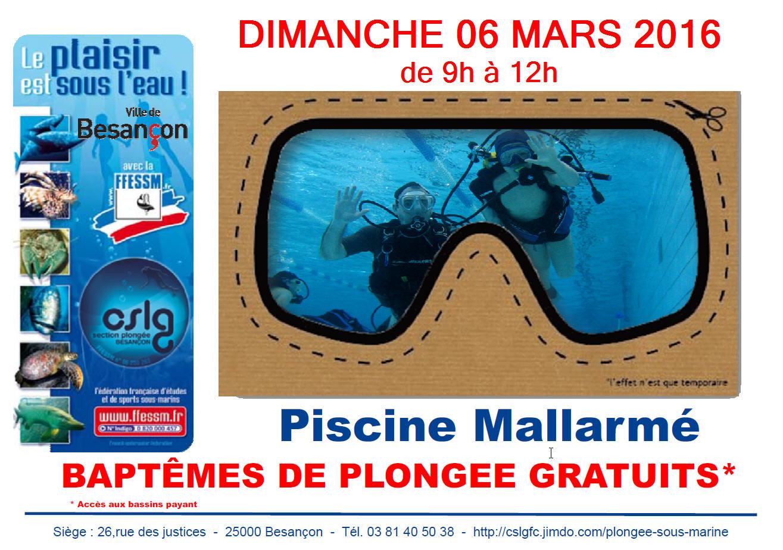 Club Plongée Besançon - Cslg Fc Section Plongée: Club ... serapportantà Piscine Mallarmé