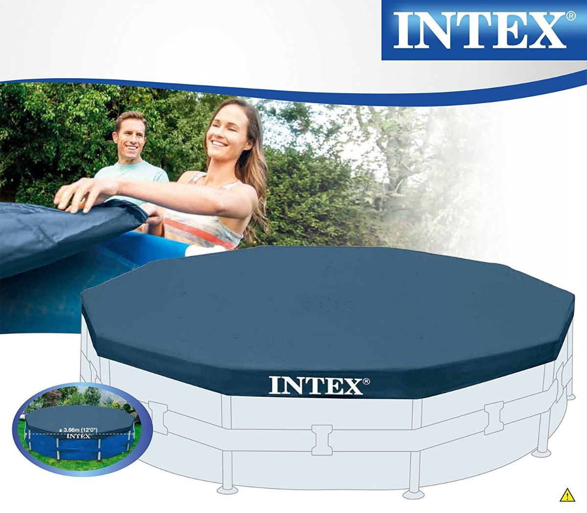 Cobertor Piscina Estructural Intex 3.66 destiné Piscine Intex 3.66