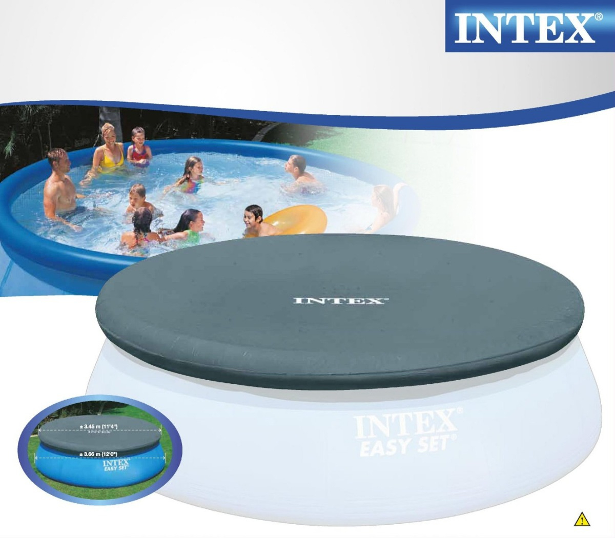 Cobertor Piscina Gomón Intex 3.66 Mts tout Piscine Intex 3.66