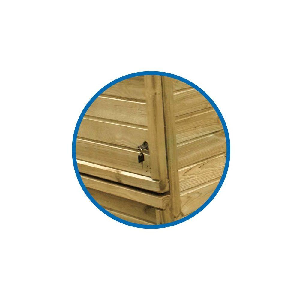 Coffre De Filtration En Pin Traité Pour Piscine H 133 Cm à Coffre De Filtration Piscine