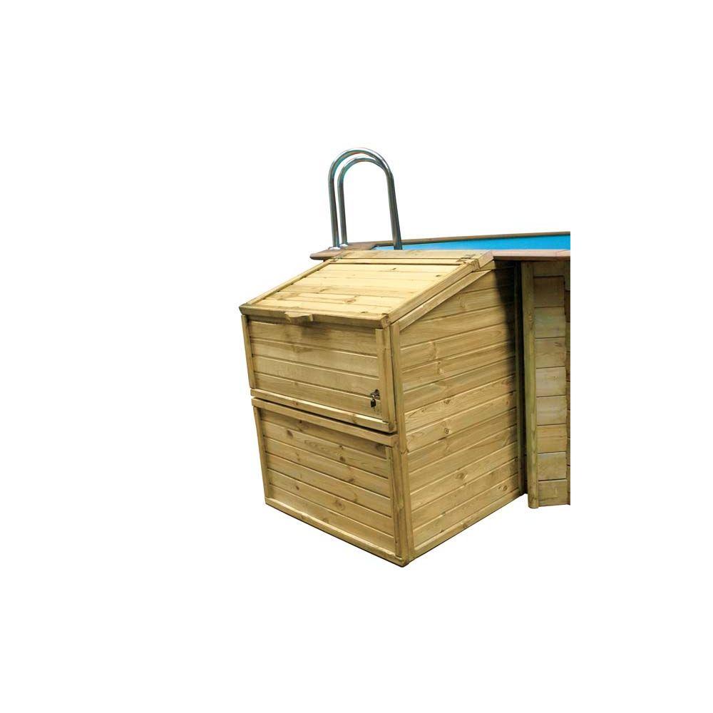 Coffre De Filtration En Pin Traité Pour Piscine H 146 Cm pour Coffre De Filtration Piscine Pas Cher