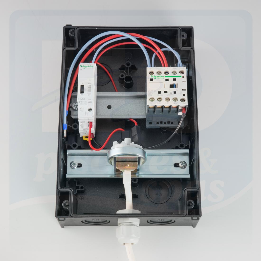 Coffret De Commande Pneumatique Pour Pompe De Nage À Contre Courant De 14A  Maxi - H2O Piscines & Spas concernant Coffret Piscine