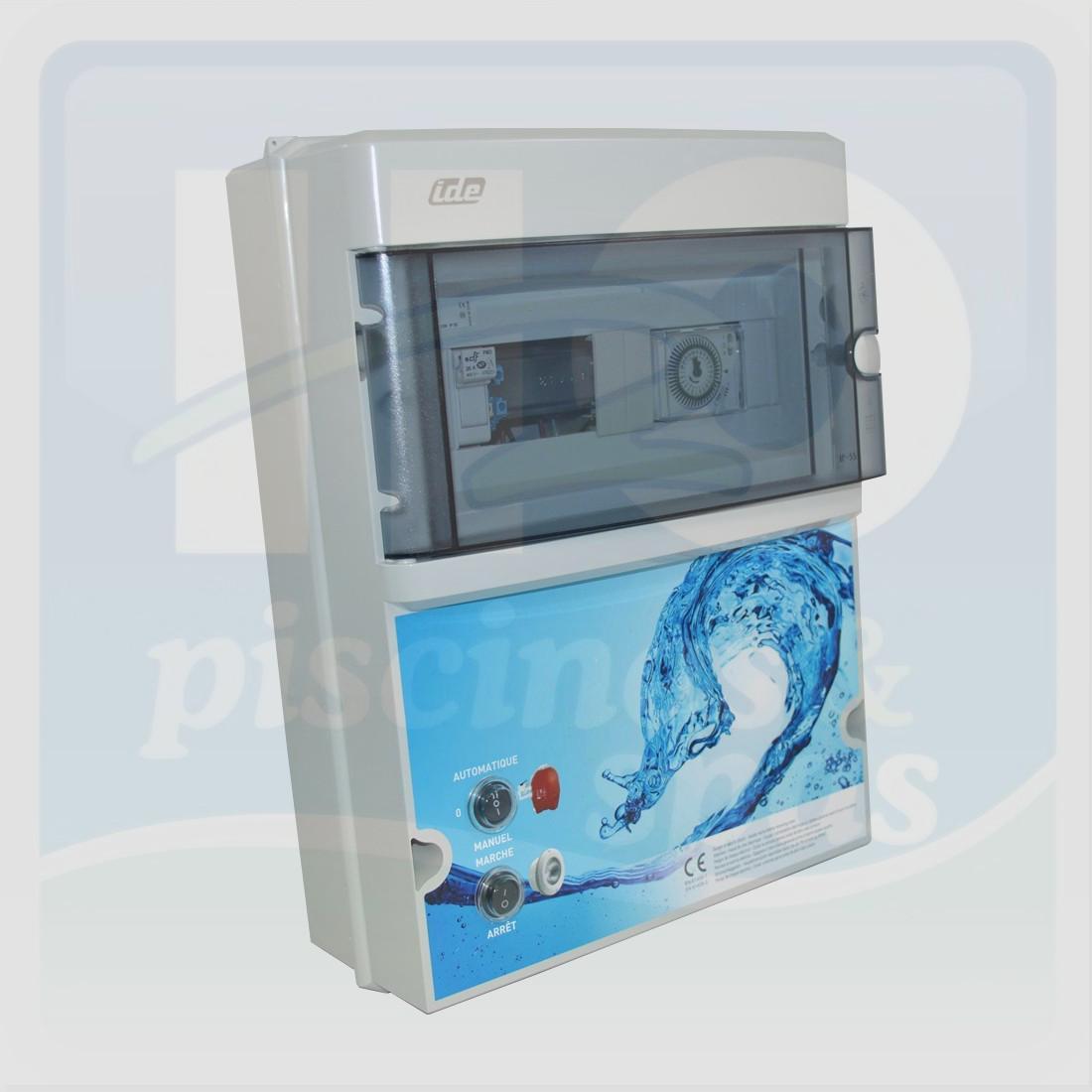 Coffret De Filtration Avec Transformateur De 100 Va - 12 V - Sans  Disjoncteur (À Choisir Dans Les Produits Complémres) - H2O Piscines &  Spas avec Coffret Electrique Piscine