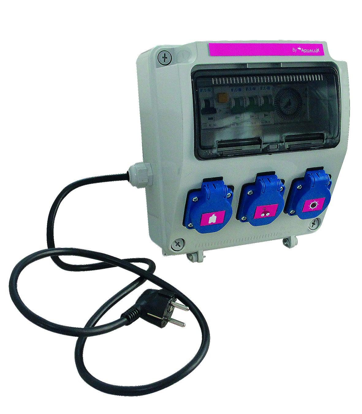 Coffret Électrique 3 Sorties Aqualux Pour Piscine Hors-Sol destiné Coffret Electrique Piscine