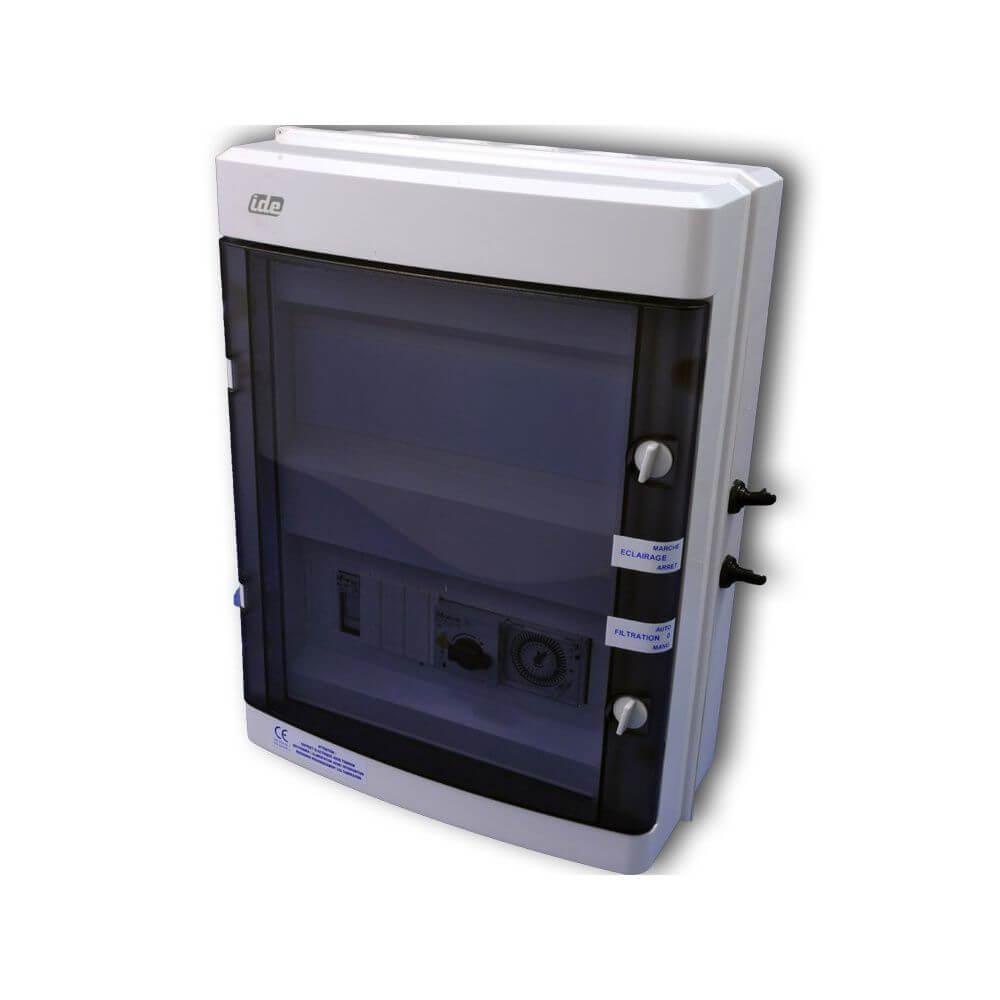 Coffret Électrique Filtration + 1 Projecteur encequiconcerne Coffret Electrique Piscine