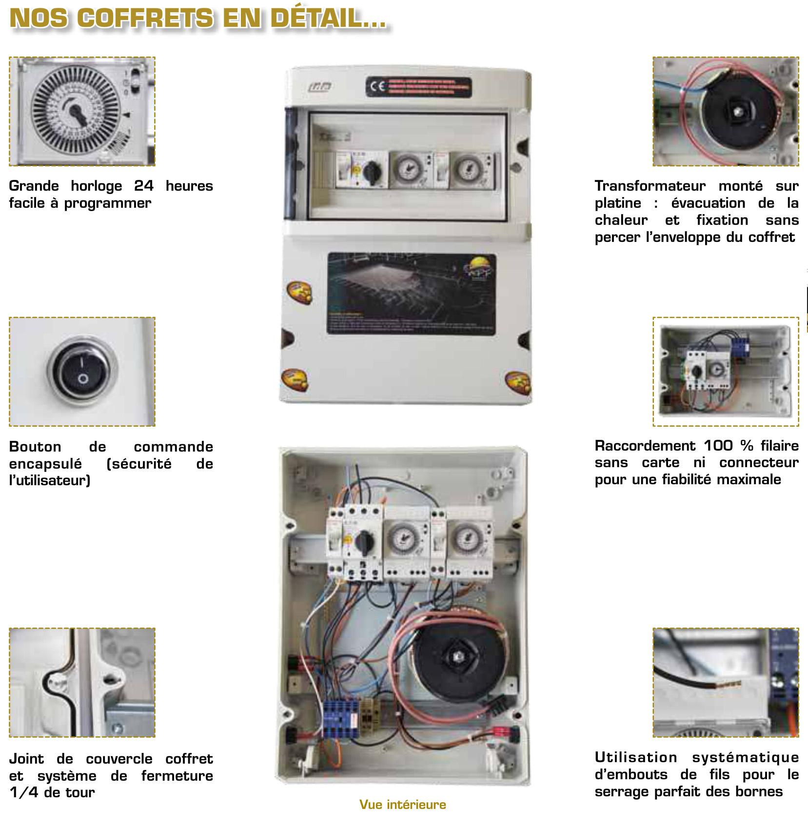 Coffret Électrique Pour Piscine 3 Fonctions -  Madeinblue-Piscine-Coffret Électrique pour Coffret Piscine