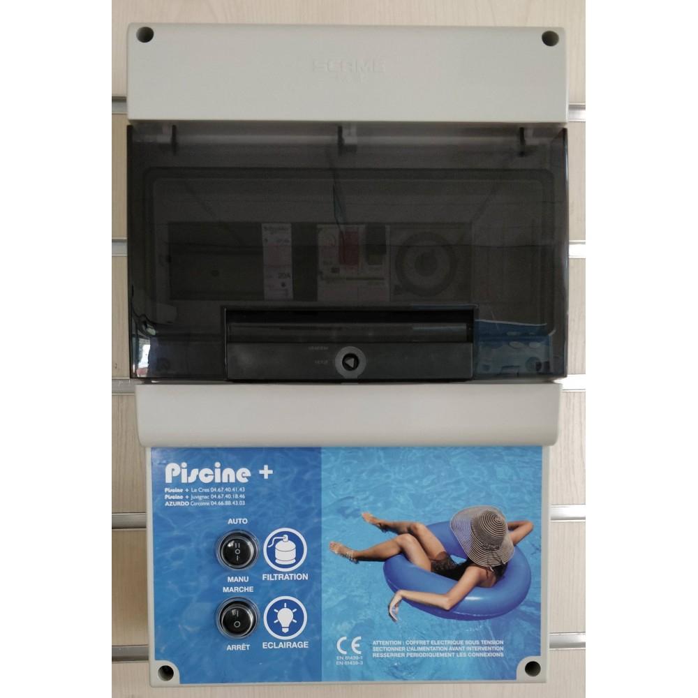 Coffret Filtration Piscine + 1 Projecteur 300W à Coffret Piscine