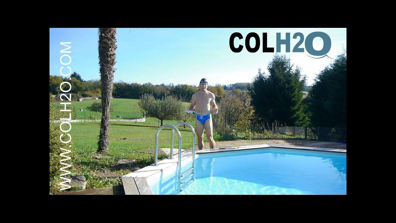 Colh2O Réparation Liner Piscine Directement Sous L'eau Avec Une Rustine tout Reparation Liner Piscine Hors Sol